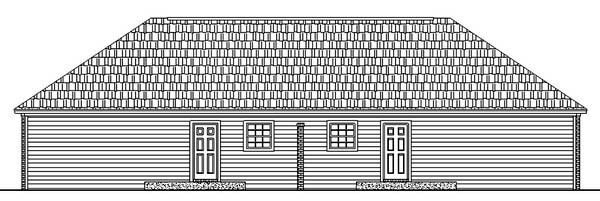 Country Ranch Southern Multi-Family Plan 59208 Rear Elevation
