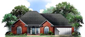 Country European Traditional House Plan 59209 Elevation
