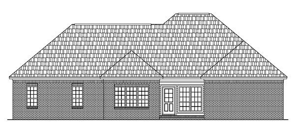 Country European Traditional House Plan 59209 Rear Elevation