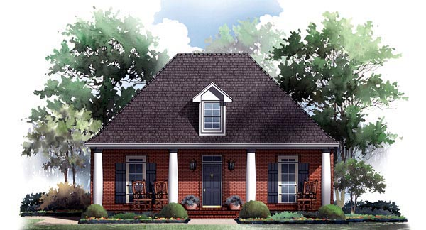 Colonial European Traditional House Plan 59210 Elevation
