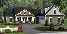 Bungalow Craftsman Traditional House Plan 59212 Elevation