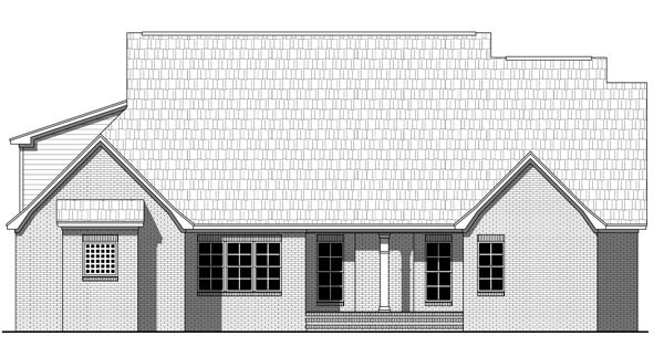 Country Farmhouse Southern Traditional House Plan 59219 Rear Elevation