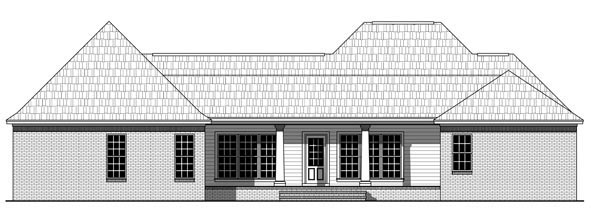 Country European Traditional House Plan 59221 Rear Elevation
