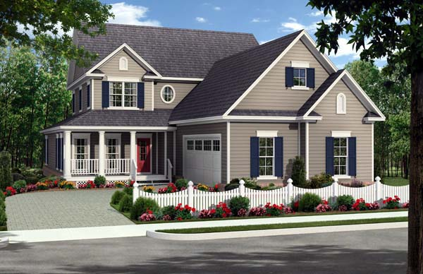 Country Farmhouse Traditional House Plan 59223 Elevation