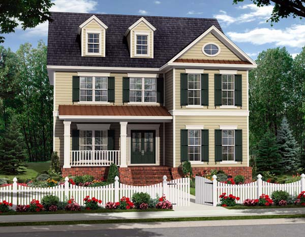 Country, Farmhouse, Traditional House Plan 59224 with 4 Beds, 3 Baths, 2 Car Garage Elevation