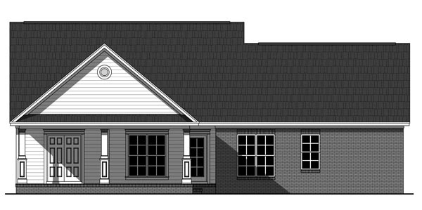 Country Farmhouse Traditional House Plan 59225 Rear Elevation