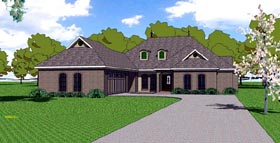 House Plan 59300 | Contemporary Florida Southern Style Plan with 2248 Sq Ft, 4 Bedrooms, 4 Bathrooms, 2 Car Garage Elevation