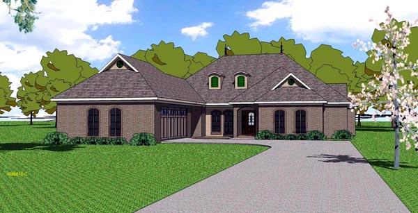 Contemporary Florida Southern House Plan 59300 Elevation