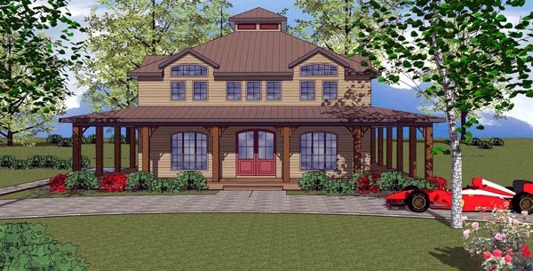 Cottage, Florida, Southern House Plan 59303 with 3 Beds , 4 Baths Elevation