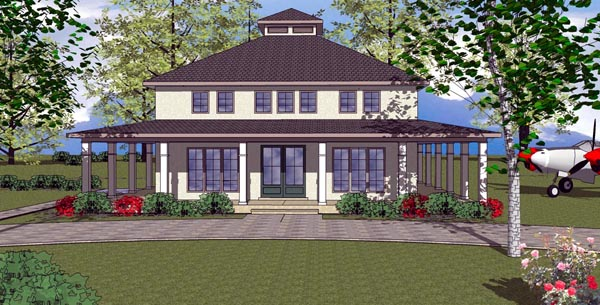 Cottage Florida Southern House Plan 59304 Elevation