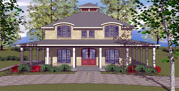 Cottage Florida Southern House Plan 59305 Elevation