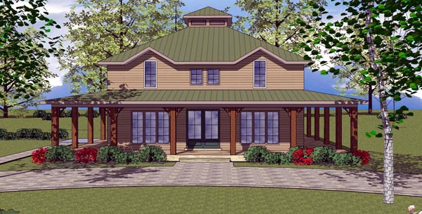 Cottage Florida Southern House Plan 59306 Elevation