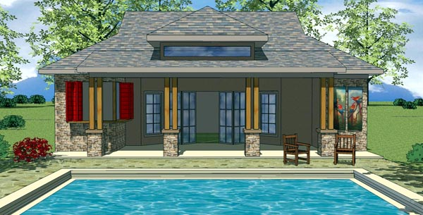 Cottage Craftsman House Plan 59307 Elevation