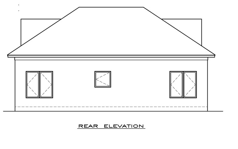 Cottage Craftsman House Plan 59309 Rear Elevation