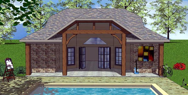 Cottage Craftsman House Plan 59316 Elevation