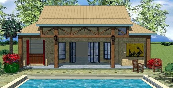 Cottage Craftsman House Plan 59320 Elevation