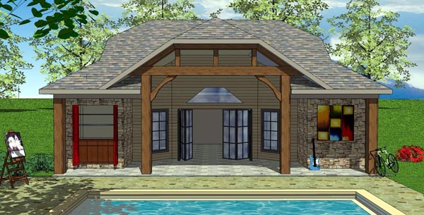 Cottage Craftsman Elevation of Plan 59321