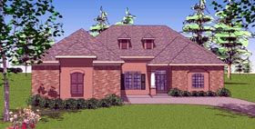 Contemporary Florida Southern House Plan 59322 Elevation