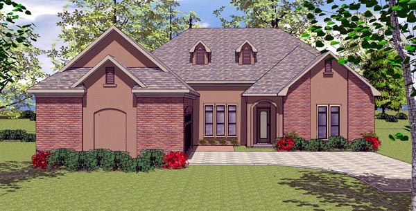 House Plan 59323 | Contemporary Florida Southern Style Plan with 2366 Sq Ft, 3 Bedrooms, 3 Bathrooms, 2 Car Garage Elevation