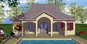 Cottage Florida Southern House Plan 59330 Elevation
