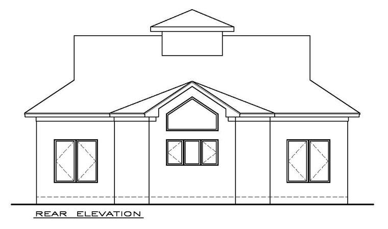 Cottage Craftsman House Plan 59348 Rear Elevation
