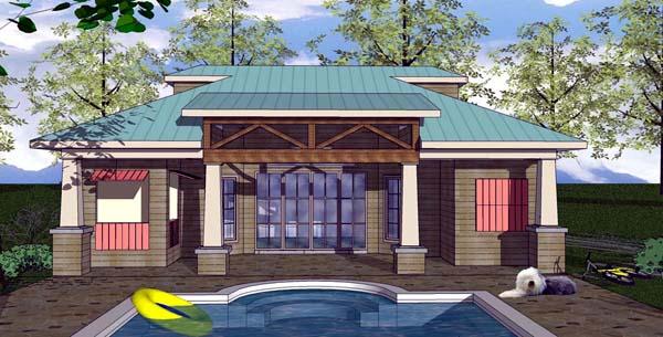 Cottage Craftsman House Plan 59351 Elevation