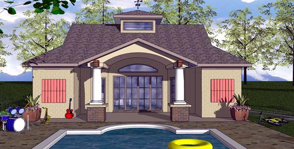 Cottage, Craftsman House Plan 59352 with 1 Beds, 2 Baths Elevation