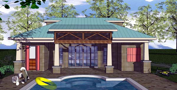 Cottage Craftsman House Plan 59357 Elevation