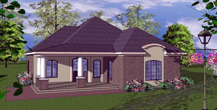 Cottage Florida Southern House Plan 59368 Elevation