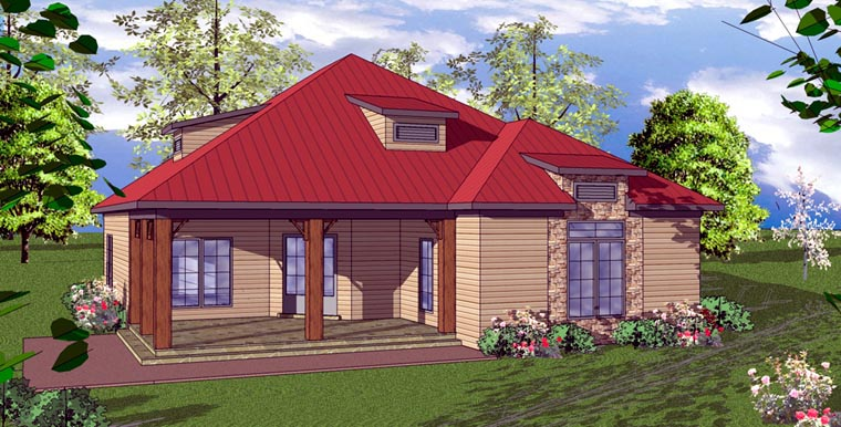 Cottage Florida Southern House Plan 59369 Elevation