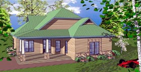 Cottage Florida Southern House Plan 59371 Elevation
