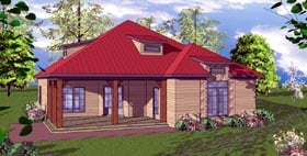 Cottage Florida Southern House Plan 59373 Elevation