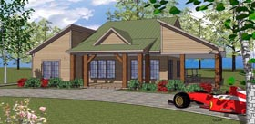 Southern , Coastal House Plan 59390 with 2 Beds, 2 Baths Elevation