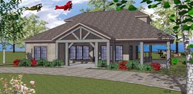 House Plan 59391 | Coastal Southern Style Plan with 1385 Sq Ft, 2 Bedrooms, 2 Bathrooms Elevation
