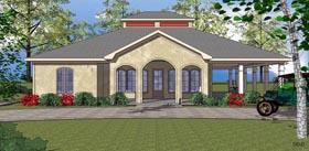 Coastal Southern House Plan 59393 Elevation