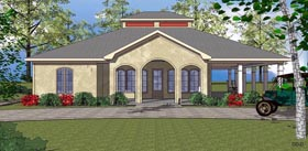 Coastal Southern House Plan 59398 Elevation