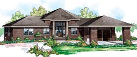 European , Traditional House Plan 59401 with 5 Beds, 4 Baths, 3 Car Garage Elevation