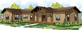 Cabin Craftsman Ranch House Plan 59402 Elevation