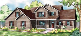 Traditional , Country , Contemporary House Plan 59412 with 4 Beds, 3 Baths, 2 Car Garage Elevation