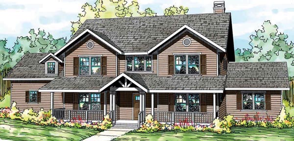 Country Florida Traditional House Plan 59413 Elevation