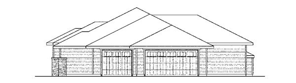 Craftsman, European, Ranch House Plan 59415 with 4 Beds, 3 Baths, 3 Car Garage Picture 2