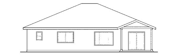 Bungalow Contemporary Cottage Craftsman Ranch House Plan 59417 Rear Elevation