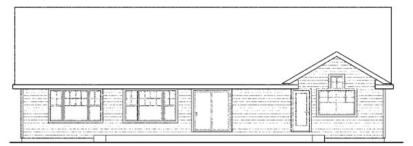 Cape Cod Contemporary Cottage Country Ranch House Plan 59418 Rear Elevation