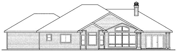 Country European Ranch House Plan 59419 Rear Elevation