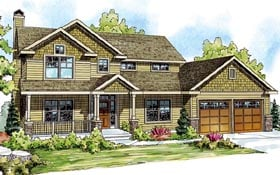 Cape Cod Cottage Country Craftsman House Plan 59422 Elevation