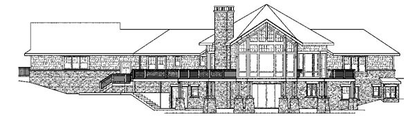 Craftsman Ranch House Plan 59424 Rear Elevation