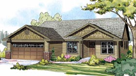 Cottage , Country , Craftsman , European House Plan 59426 with 3 Beds, 2 Baths, 2 Car Garage Elevation