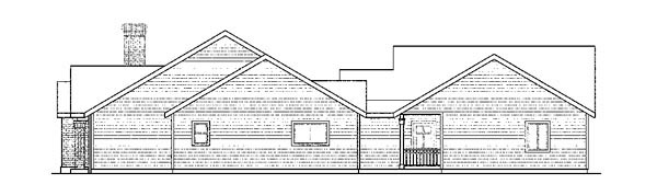 Cottage, European, Ranch, Traditional House Plan 59428 with 5 Beds, 3 Baths, 3 Car Garage Picture 2