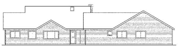 Cottage European Ranch Traditional House Plan 59428 Rear Elevation