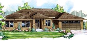 Contemporary Florida Mediterranean Ranch House Plan 59431 Elevation